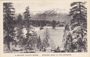 Meadow Valley Scene Spanish Peak In Distance California Albertype
