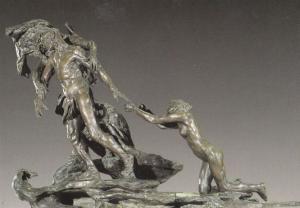 Camille Claudel L'Age Mur Bronze Naked Woman Statue Primitive Art Postcard