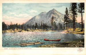 Mt Shasta California Muirs Butte Waterfront Antique Postcard K50354
