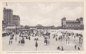 New Jersey Atlantic City The St Charles The Breakers Garden Pier and Beach Al...
