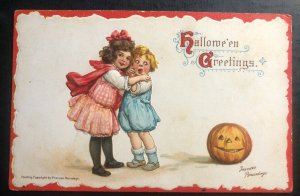 Mint USA Halloween greetings Postcard  Scary Pumpkin