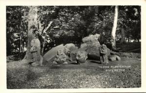 indonesia, JAVA BUITENZORG, Botanical Garden, Stone Figurs (1930s) RPPC