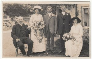 Anonymous Vintage Wedding Group RP PPC, c 1910's, Social History