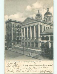 Pre-1907 SECURITY BUILDING York Pennsylvania PA n5775