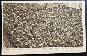 Mint England Real Picture Postcard Loyal North Lancs Regiment Cheering