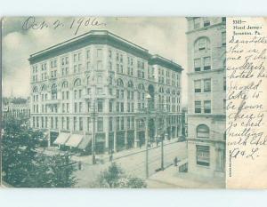 Pre-1907 JERMYA HOTEL Scranton Pennsylvania PA A2613