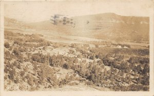 G23/ Beulah Colorado RPPC Postcard 1910 Birdseye View Mountains