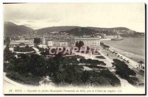 Postcard Old Nice Garden Set Municipalet Promenade du Midi The Hotel des Anglais