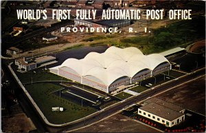 Providence RI World's First Fully Automated Post Office Postcard unused 1960s
