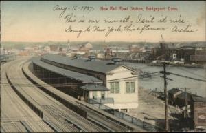 Bridgeport CT New RR Train Station c1905 Card/Postcard - Blank Backside