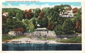 US    PC2547  BATHING BEACH & BLUFF HOUSE, MILFORD, PA