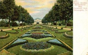 PA - Philadelphia. Fairmount Park, Sunken Gardens, Horticultural Hall