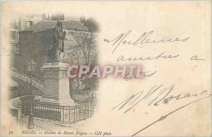 Old Postcard Blois Statue of Denis Papin