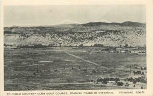Birdseye Country Club Golf Course Trinidad Colorado 1920s Postcard 11648