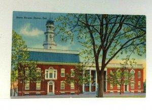 Dover Delaware State House Linen Vintage Postcard