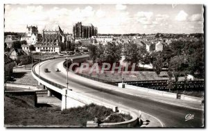 Old Postcard Beauvais The Road Bridge and the City