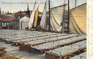 Fish Drying on the Wharves Gloucester MA 1907