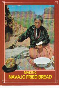 Navajo Indian Squaw Preparing Fried Bread Monument Valley Arizona