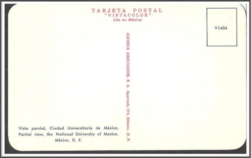 Mexico Ciudad University Postcard