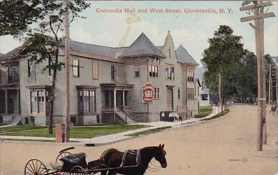 Concordia Hall And West Street Gloversville New York