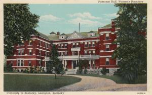LEXINGTON, Kentucky, 1910-20s; Patterson Hall, Women's Dormitory, U of Kentucky