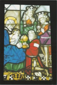 Yorkshire Postcard - Stained Glass, St Oswald's Church, Askrigg   RR10379