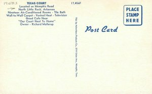 Advertisers Products North Little Arkansas Texas Court roadside Postcard 9862