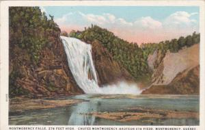 Montmorency Falls, Chutes Montmorency, Hauteur 274 Pieds, Montmorency, Quebec...
