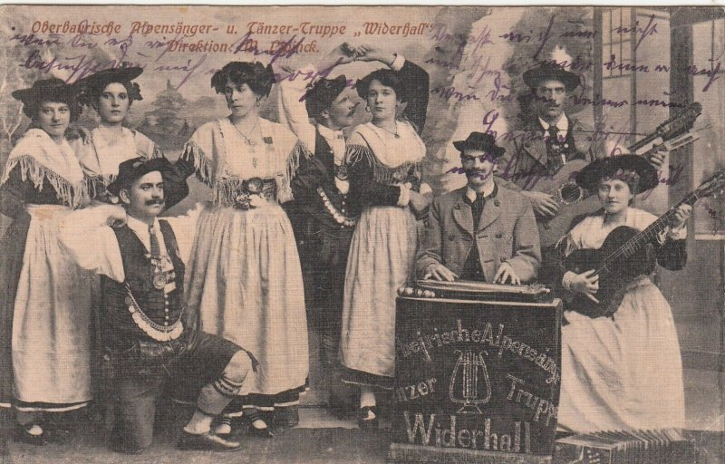 WIDERHALL Band & Dancers , Germany , 1911