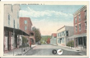 Broadway Looking South Narrowsburg New York Tichnor Brothers, Inc. Vintage