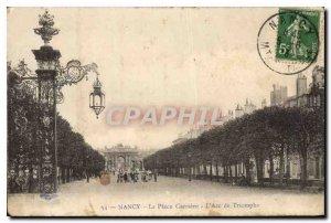 Old Postcard Nancy Place Career Arc Triomphe