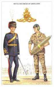 Postcard The British Army Series No.18 Royal Regiment of Artillery - Geoff White