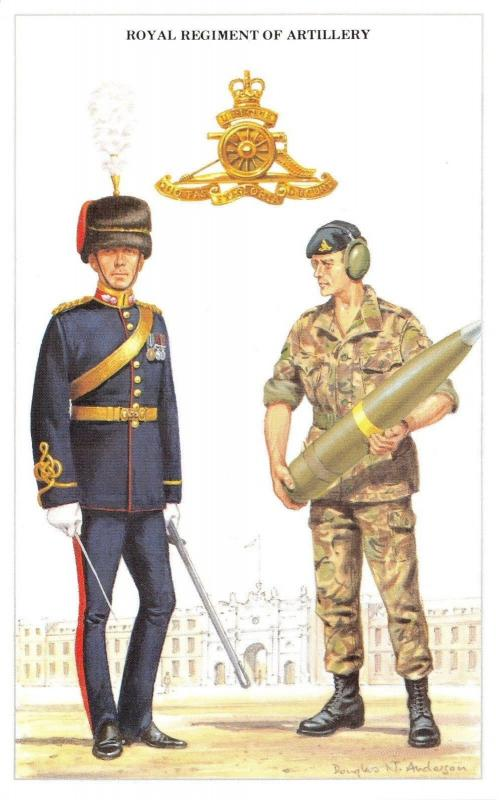 07cae324028a Postcard The British Army Series No.18 Royal Regiment of Artillery - Geoff  White / HipPostcard