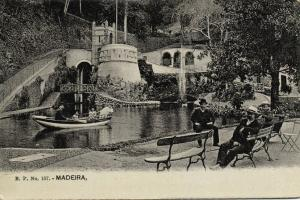 portugal, MADEIRA, Park with Pond, Rowing Boat (1910s) B.P. 157