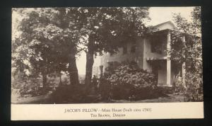 Mint USA Real Picture Postcard RPPC Jacobs Pillow Main House Lee MA