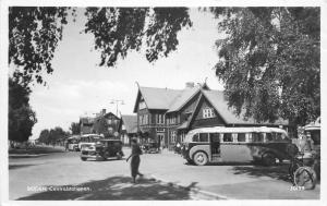 Autos Buses Sweden 1930s RPPC Photo Postcard Boden Centralstationen 11462
