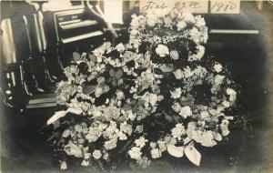 Butler 1910 Ulyssess Nebraska Mrs White Memorial Flowers RPPC Real photo 2226
