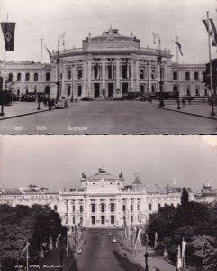 Wien Burgtheater Austria 2x Theatre Real Photo Postcard s