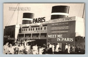 Chicago IL-Illinois 1933 World's Fair Entrance Streets Of Paris Vintage Postcard