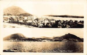 Ketchikan AK The First City' Duo View Signed Thwaites RPPC Postcard