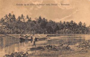 Soerabaia Indonesia, Republik Indonesia Gezicht op de River, Kalimas Soerabai...