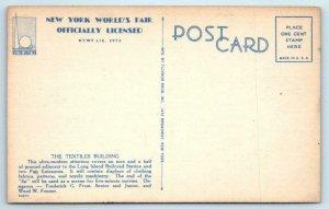 3 Postcards 1939 NEW YORK WORLD'S FAIR ~ Aerial, Planetarium, Textiles Building