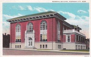 NEBRASKA CITY , Nebraska , PU-1941 ; Memorial Building
