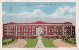 Iowa Waterloo Allen Memorial Hospital 1936