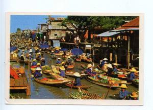 196740 Thailand Floating Market old postcard
