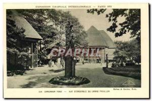 Old Postcard International Colonial Exposition Paris 1931 Cameroon Togo View ...