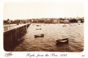 Postcard RYDE Isle Of Wight from Pier 1892 Francis Frith Collection Repro Card