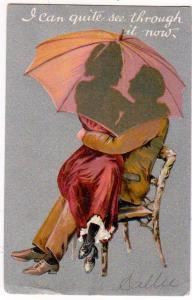 Lovers Under a Umbrella