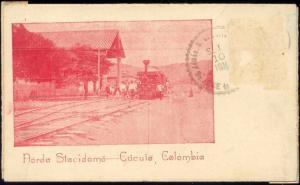 colombia, CUCUTA, Norda Stacidomo, Railway Station, Steam Train (1911)