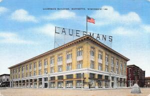 Lauerman Building, Marinette, Wisconsin, early Postcard, Unused